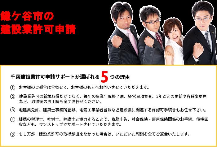 鎌ケ谷市の建設業許可申請のことなら千葉建設業許可申請サポートへお任せ下さい